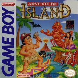 Box cover for Adventure Island on the Nintendo Game Boy.