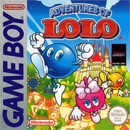 Box cover for Adventures of Lolo, The on the Nintendo Game Boy.