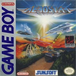Box cover for Aerostar on the Nintendo Game Boy.