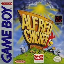 Box cover for Alfred Chicken on the Nintendo Game Boy.