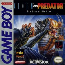 Box cover for Alien vs. Predator: The Last of His Clan on the Nintendo Game Boy.
