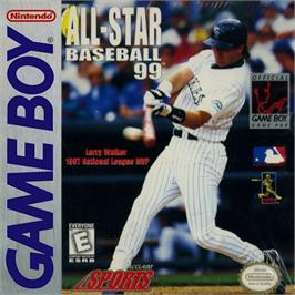 Box cover for All-Star Baseball '99 on the Nintendo Game Boy.