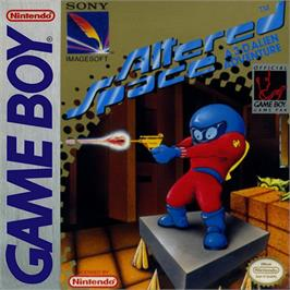 Box cover for Altered Space: A 3-D Alien Adventure on the Nintendo Game Boy.