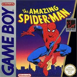 Box cover for Amazing Spider-Man on the Nintendo Game Boy.