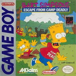 Box cover for Bart Simpson's Escape from Camp Deadly on the Nintendo Game Boy.