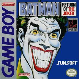 Box cover for Batman: Return of the Joker on the Nintendo Game Boy.