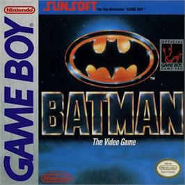 Box cover for Batman: The Video Game on the Nintendo Game Boy.