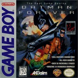 Box cover for Batman Forever on the Nintendo Game Boy.