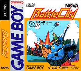 Box cover for Battle City on the Nintendo Game Boy.