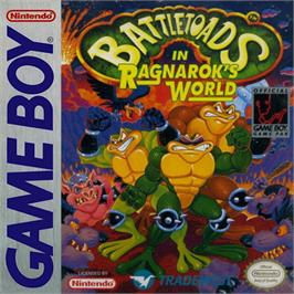 Box cover for Battle Toads in Ragnarok's World on the Nintendo Game Boy.