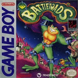 Box cover for Battletoads on the Nintendo Game Boy.
