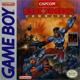 Box cover for Bionic Commando on the Nintendo Game Boy.