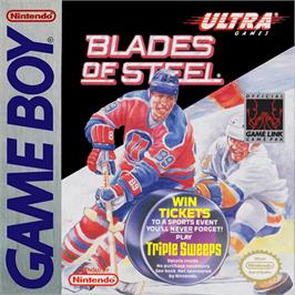 Box cover for Blades of Steel on the Nintendo Game Boy.
