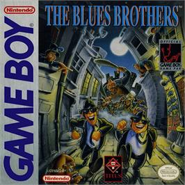 Box cover for Blues Brothers on the Nintendo Game Boy.