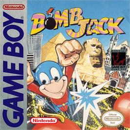 Box cover for Bomb Jack on the Nintendo Game Boy.