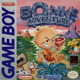 Box cover for Bonk's Adventure on the Nintendo Game Boy.