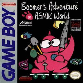 Box cover for Boomer's Adventure in ASMIK World on the Nintendo Game Boy.