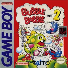 Box cover for Bubble Bobble Part 2 on the Nintendo Game Boy.