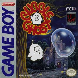 Box cover for Bubble Ghost on the Nintendo Game Boy.