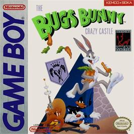 Box cover for Bugs Bunny: Crazy Castle on the Nintendo Game Boy.