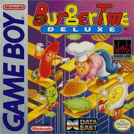 Box cover for BurgerTime Deluxe on the Nintendo Game Boy.