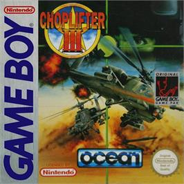 Box cover for Choplifter 3 on the Nintendo Game Boy.