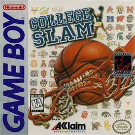 Box cover for College Slam on the Nintendo Game Boy.