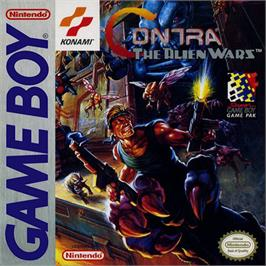 Box cover for Contra: The Alien Wars on the Nintendo Game Boy.
