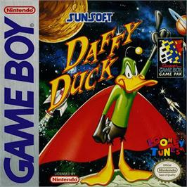 Box cover for Daffy Duck: The Marvin Missions on the Nintendo Game Boy.