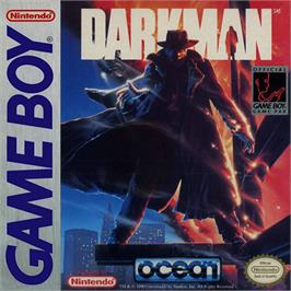 Box cover for Darkman on the Nintendo Game Boy.