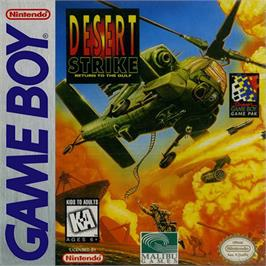 Box cover for Desert Strike: Return to the Gulf on the Nintendo Game Boy.