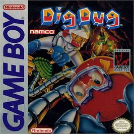 Box cover for Dig Dug on the Nintendo Game Boy.