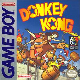 Box cover for Donkey Kong on the Nintendo Game Boy.
