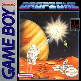 Box cover for Dropzone on the Nintendo Game Boy.
