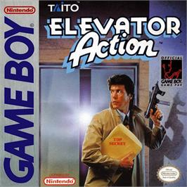 Box cover for Elevator Action on the Nintendo Game Boy.