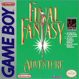 Box cover for Final Fantasy Adventure on the Nintendo Game Boy.