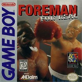 Box cover for Foreman for Real on the Nintendo Game Boy.