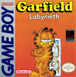 Box cover for Garfield Labyrinth on the Nintendo Game Boy.