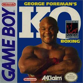 Box cover for George Foreman's KO Boxing on the Nintendo Game Boy.