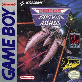 Box cover for Gradius: The Interstellar Assault on the Nintendo Game Boy.