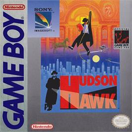 Box cover for Hudson Hawk on the Nintendo Game Boy.
