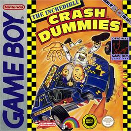 Box cover for Incredible Crash Dummies on the Nintendo Game Boy.