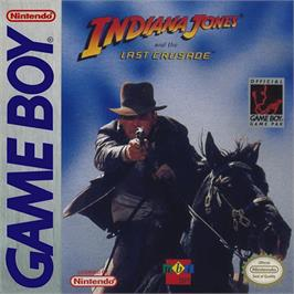 Box cover for Indiana Jones and the Last Crusade: The Action Game on the Nintendo Game Boy.