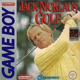 Box cover for Jack Nicklaus Golf on the Nintendo Game Boy.