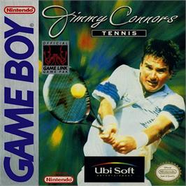 Box cover for Jimmy Connors Tennis on the Nintendo Game Boy.