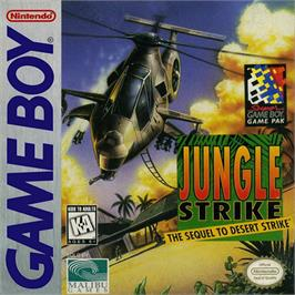 Box cover for Jungle Strike on the Nintendo Game Boy.