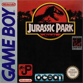 Box cover for Jurassic Park on the Nintendo Game Boy.