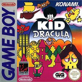 Box cover for Kid Dracula on the Nintendo Game Boy.