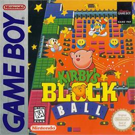 Box cover for Kirby's Block Ball on the Nintendo Game Boy.