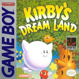 Box cover for Kirby's Dream Land on the Nintendo Game Boy.